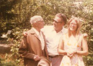 Rudolf Hartung mit seinem Sohn Fritz und seiner Enkelin Dietlind