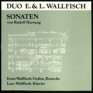 Das Cover der Schallplatte mit Lory und Ernst Wallfisch