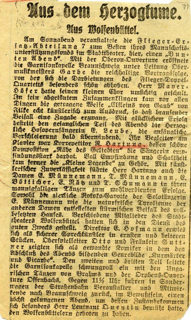Konzertbegleiter im Stadttheater Wolfenbüttel
